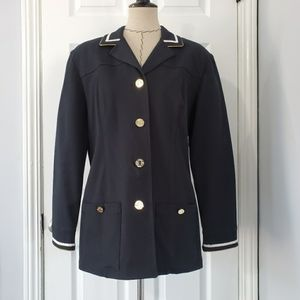St. John Nautical Navy with Gold Buttons Blazer